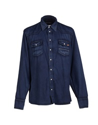 Care Label Shirts Dark Blue