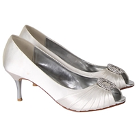 Rainbow Club Serafina Satin Court Shoes Ivory