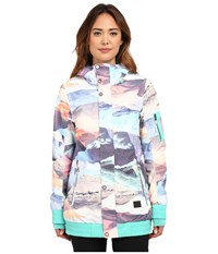 O'neill Ginga Jacket White Allover Print Women's Coat Multi