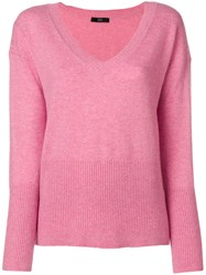 Steffen Schraut V Neck Sweater Pink And Purple