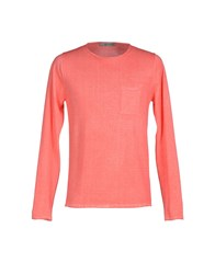 Jeordie's Knitwear Jumpers Men Coral