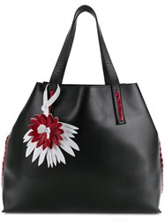 P.A.R.O.S.H. Side Embellished Tote Bag Black