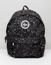 Hype Backpack In Black With Speckle Black
