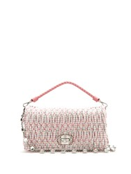 Miu Miu Quilted Checked Shoulder Bag Pink Multi