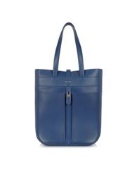 Paul Smith Men's Leather Fishing Tote Blue