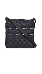 Le Sport Sac Lesportsac Candace North South Crossbody Bag Black Polka Dot