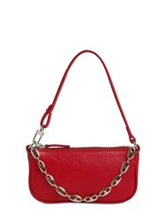 By Far Mini Rachel Leather Bag Red