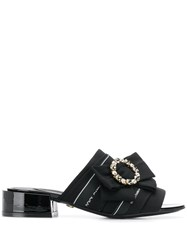 Dolce And Gabbana Open Toe Bow Sandals Black