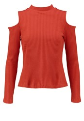 Evenandodd Long Sleeved Top Pink Red