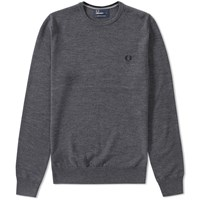 Fred Perry Classic Crew Neck Sweater Grey