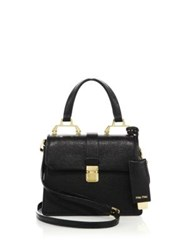 Miu Miu Madras Mini Leather Satchel Black