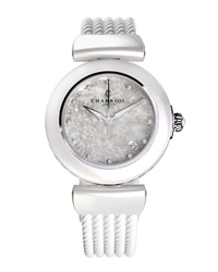 Charriol 33Mm Ceramic Plated Medium Alexandre C Three Hand Watch W Simili Stones