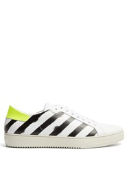 Off White Diagonals Low Top Leather Trainers White Multi