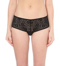 Princesse Tam Tam Monica Brazilian Lace Shorts Black