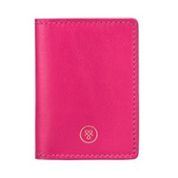 Maxwell Scott Bags Hot Pink Nappa Leather Oyster Card Holder