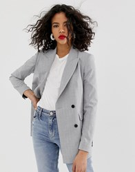Selected Femme Check Double Breasted Blazer Multi