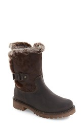 Bos. And Co. Women's Bos Candy Waterproof Boot With Faux Fur Trim Dark Brown Mountain Leather