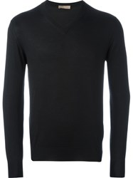 Cruciani V Neck Sweater Black