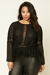 Forever 21 Plus Size Lace Peplum Top
