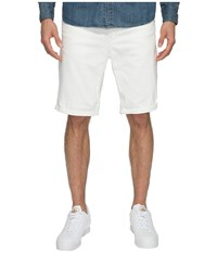 G Star 5621 3D Tapered 1 2 Shorts Inza White Stretch Denim Men's Shorts