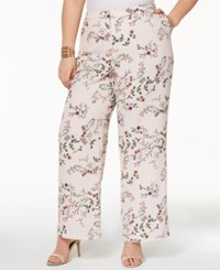 b2500444662 Alfani Plus Size Printed Wide Leg Pants Created For Macy s Emma Botanical