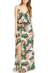 Show Me Your Mumu Women's Kendall Soft V Back A Line Gown Paradise Found