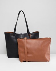 Oasis Shopper Bag With Removable Pouch Grey