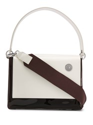Kara Foldover Top Shoulder Bag White
