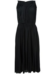 Stefano Mortari Ruched Detail Dress Black