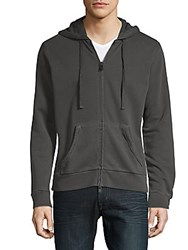 Zadig And Voltaire Moss Overdyed Cotton Hoodie Grey