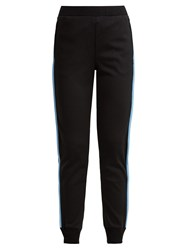 Prada Side Stripe Jersey Track Pants Black