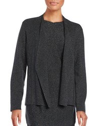 Eileen Fisher Petite Long Sleeved Knit Cardigan Charcoal