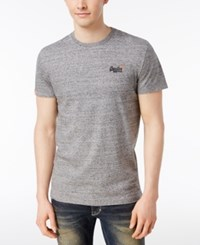Superdry Vintage Cotton T Shirt Grey Grit