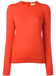 Tory Burch Crew Neck Jumper Red