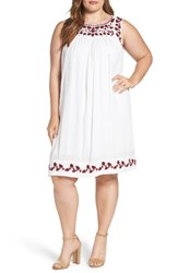 Lucky Brand Plus Size Women's Hannah Embroidered Shift Dress