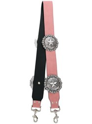 Kate Cate Regina Star Plaque Bag Strap Pink And Purple