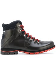 Rossignol Chamonix Boots Leather Nylon Polyester Rubber 9.5 Brown