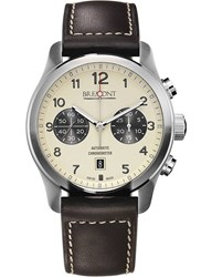 Bremont Alt1 Ccr07 Stainless Steel And Leather Watch