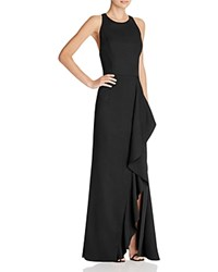 Jarlo Ruffle Front Gown Black