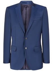 Jaeger Wool Twill Suit Jacket French Navy