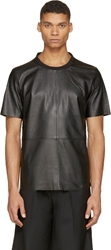 Blk Dnm Black Leather T Shirt