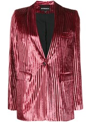 Ann Demeulemeester Striped Single Breasted Blazer 60