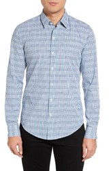 Hugo Men's Boss Robbie Extra Trim Fit Check Sport Shirt