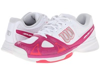 Wilson Rush Evo Fiesta Pink Red Women's Tennis Shoes White