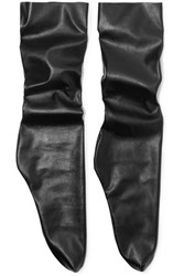 Pan And The Dream Faux Leather Socks Black