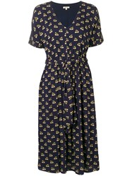 Bellerose Printed Midi Dress Blue