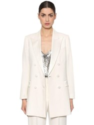 Racil Double Breasted Cool Wool Blazer White
