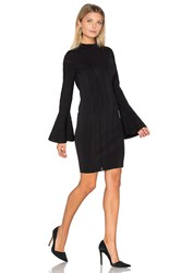Keepsake Lighthouse Knit Long Sleeve Dress Black