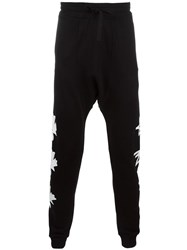 Blood Brother Leaf Print Track Pants Black