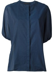 The Row Round Neck Top Blue